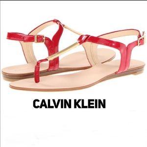 NIB Samira Sandals Crimson Red Size 6
